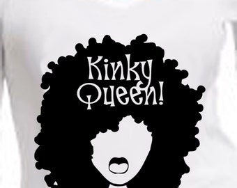Kinky Queen V-NECK  T-shirt