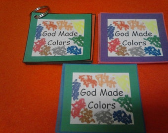 "Colors Flashcards - ""God Made Colors"", Color Cards, Reading, Laminated, Color Cards, Toddler, Preschool, Kindergarten, Christian Learning"