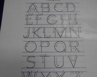 Alphabet Letter Tracing Guide Sheet Laminated, Uppercase Letters, ABC's, Preschool Learning, Kindergarten, Kids Educational, Letter Guide