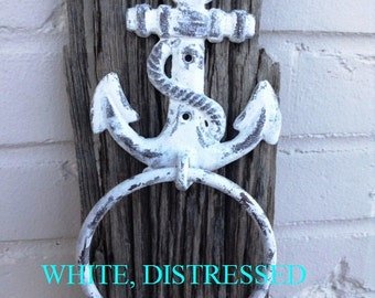 Ship's Anchor Towel Holder/Door Knocker/Nautical/Seaside/Beach Cottage/Boat