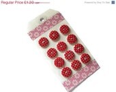 ON SALE Round Polka Dot Resin Buttons - Polka Dot Round Buttons - Polka Dot Buttons