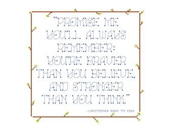 HALF OFF PATTERNS Sale Children's Quote Cross Stitch Pattern