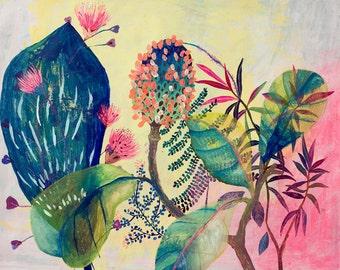 Fantasy garden - illustration - giclee  print