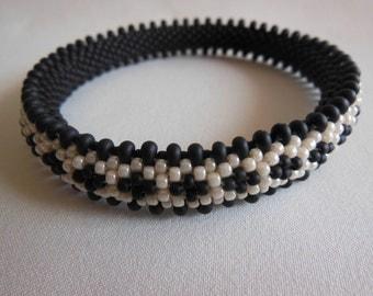 Bead Crochet Bangle:  Palamino