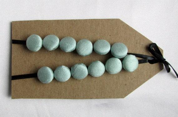 aqua silk buttons, 1/2 inch size