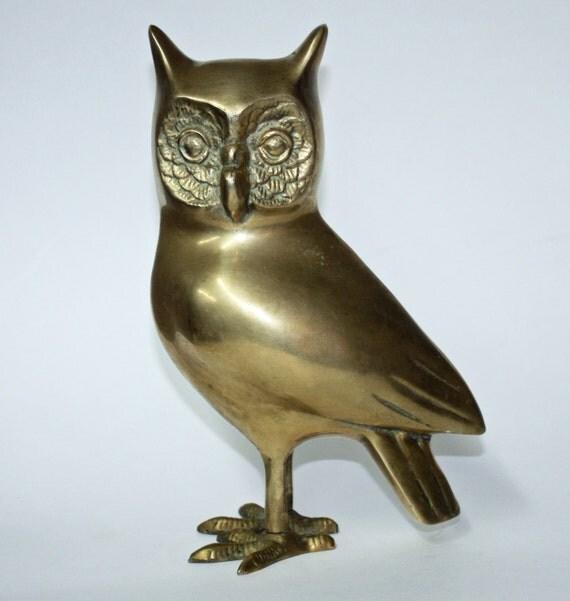 Brass Home Decor: Vintage Brass Owl Home Decor By BuyBackYesterday On Etsy