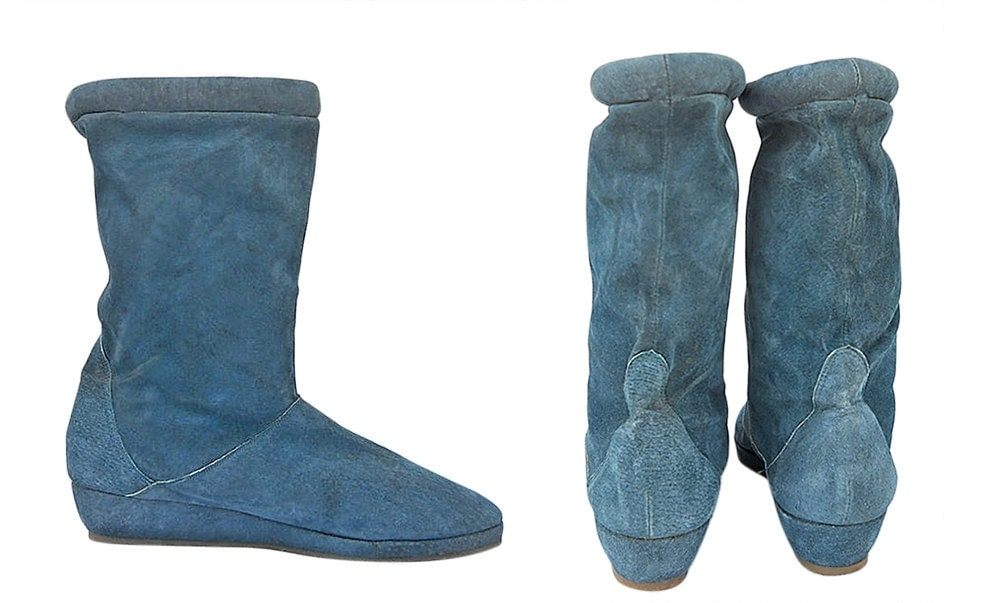 teal boots - 28 images - teal faux suede slouchy strapped