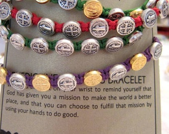 My Saint My Hero Saint Benedictine Blessing Bracelets Confirmation Friend's Family Mother's Day Easter