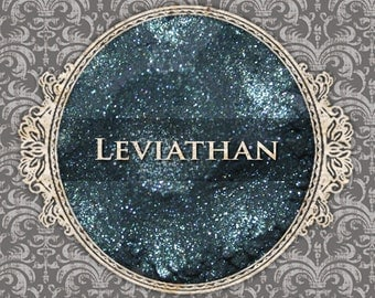 LEVIATHAN Sparkle Eyeshadow: Samples or Jars, Deep Teal w/Blue Duochrome, Loose Powder Eyeshadow, VEGAN Cosmetics, Ships Out in 4-7 Days