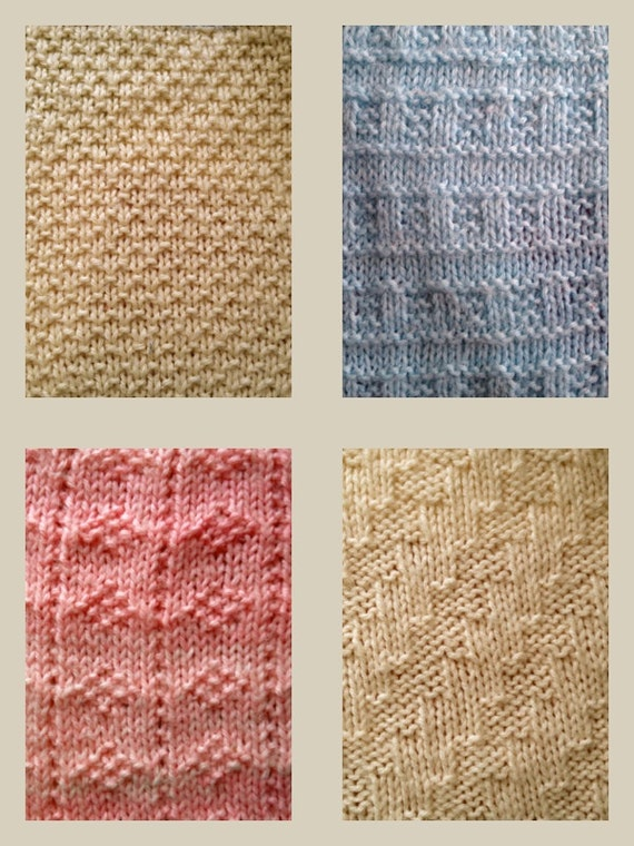 Knitting Pattern for blanket squares PDF