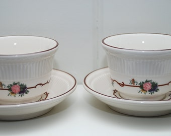 Vintage Syracuse China Cup and Saucers Set of Two