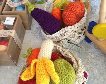 Fruit or Vegetable Market Bags - Handmade Toys