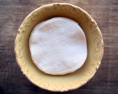 "100% Organic Facial Rounds Set of 12 -- Organic Unbleached Birdseye Cotton Double Layer 4"" Diameter"