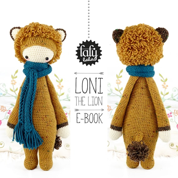LONI the lion • lalylala crochet pattern / amigurumi
