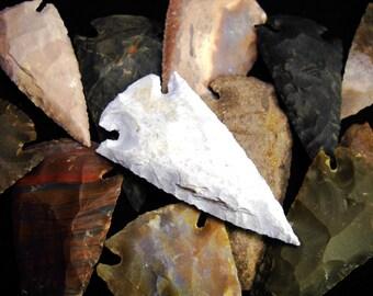 "2.5"" Agate Arrowheads Stone Knapped Arrowhead Spear Point Reproductions"