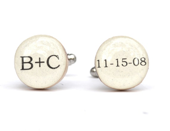 5th Wedding Anniversary Gift For Husband: Personalized Men's Custom Cufflinks 5th By Starlightwoods