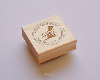 Labrador Retriever -  Personalized Address Stamp