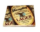 Custom Yuengling Lager Beer Coaster Set for Raine