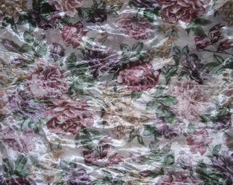 "Window Swag - Window Valence - Window Scarf - Floral Window Swag - 214"" x 42"" - Repurpose Fabric"