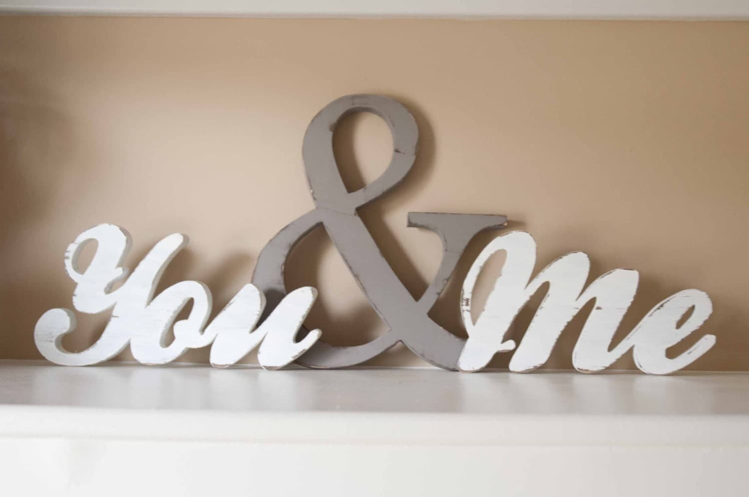 You and me wood word sign you me home decor for Decoration word