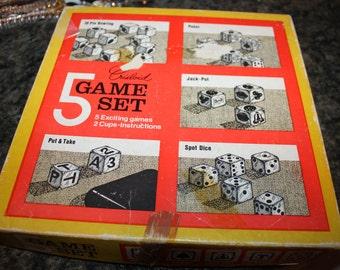 Vintage CRISLOID 5 Game Set