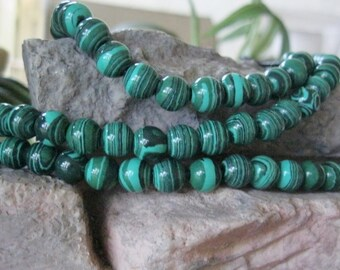 Tribal Big Hole Bead 12MM Round Green Black 9 Beads 2.5mm hole