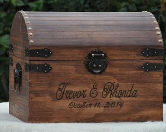 ... Rustic Wedding Card Box- Woodland/Country/Rustic Chic -Treasure Chest