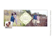 INSTANT DOWNLOAD  - Facebook Timeline Cover photoshop templates - Save the Date - E384