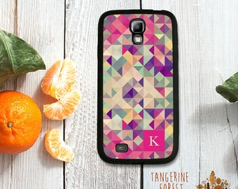 Bright Geometric Pattern Customized With Your Initial! Choose Samsung Galaxy S4 / S5 / S6