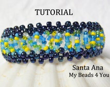 PDF Beading Tutorial, Beaded Bracelet Pattern, Beadweaving Tutorial, Pattern, Seed Bead Tutorial, PDF Beaded Bracelet Pattern, Beadwoven