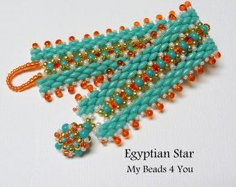 SuperDuo Beadwoven Bracelet, Beadwork Bracelet, Cuff Bracelet, Seed Bead Bracelet, Beadwoven Jewelry, Embellished Bracelet, Beading Tutorial