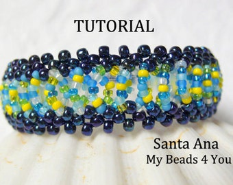 Beading Tutorial, Beaded Bracelet Pattern, Schemi, Pattern, Seed Bead Tutorial, PDF Beaded Bracelet Pattern, How to Bead, DIY, MyBeads4you