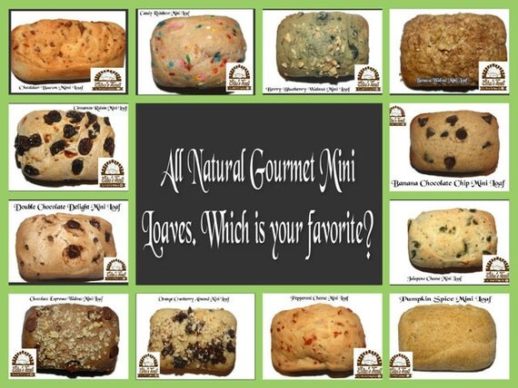 9 Gourmet Mini Loaves - You Choose
