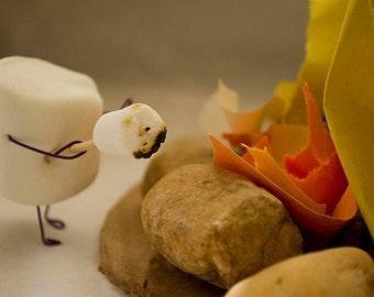 Matted Print: Anthropomorphic Marshmallow - Cannibalism is Sweet
