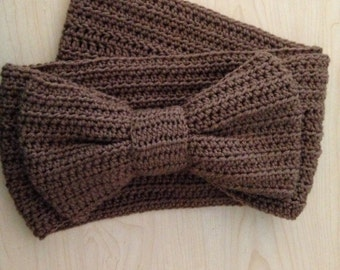 Infinity Scarf/Cowl with Giant Bow