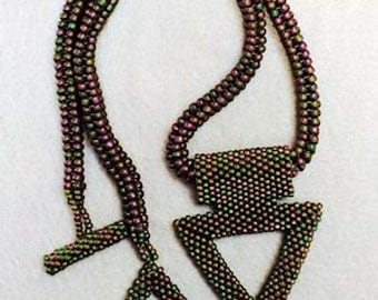 "3d Triangle bead necklace - ""Cassiopeia"""