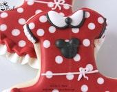 Minnie Mouse Inspired Dress Cookies, Minnie Mouse Birthday Party
