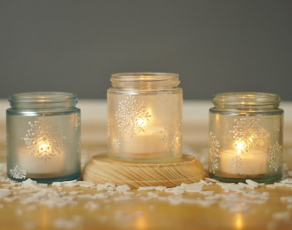 Holiday Mason Jar Votives