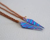 Chevron Arrow Best Friend Necklaces / Customized / Broken Arrow Necklace / CHOOSE YOUR COLORS