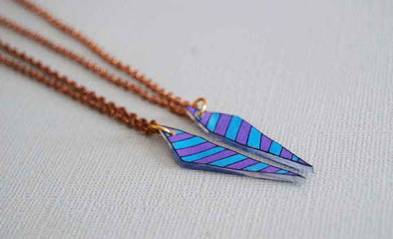 Chevron Arrow Best Friend Necklaces / Customized / Broken Arrow Necklace / CHOOSE YOUR COLORS