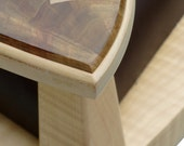 Seat Of Tranquility: Curly Maple And Crotch Walnut Sitting Chair