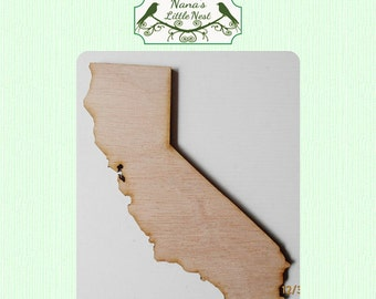 California State (Large) Wood Cut Out - Laser Cut