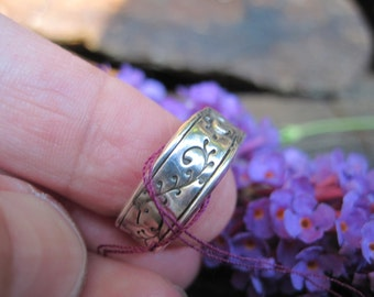 Sterling Silver Twisting Vine Ring Handcrafted Size 7 SALE!