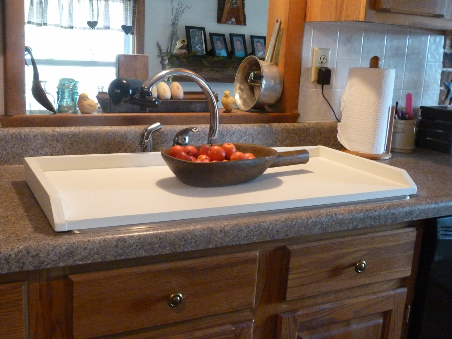 white sink cover country kitchen tray by rusticprairiecottage