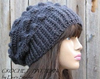 CROCHET PATTERN - Instant Download Crochet Pattern - Hat Crochet Pattern - Crochet Hat Pattern for Slouchy Hat - Womens Accessories
