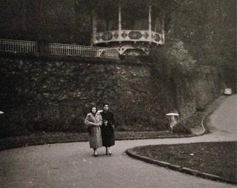 Original Antique Photograph Under the Gazebo