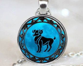 Aries Pendant, Aries Necklace, Aries Jewelry, Aries Charm Silver(PD0345)