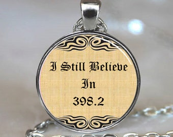 I still believe in 398.2 fairy tale necklace charm, book pendant, book jewelry, book jewellery (PD0)