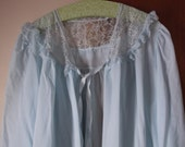 Pretty Blue Lacey Bed Jacket Med 36-38