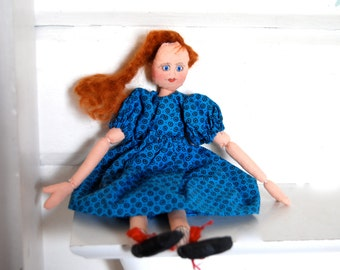 Vintage Red Head Rag Doll